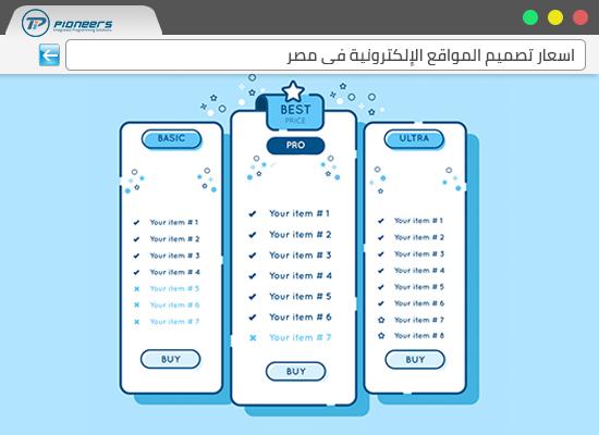 أسعار تصميم المواقع الإلكترونية فى مصر